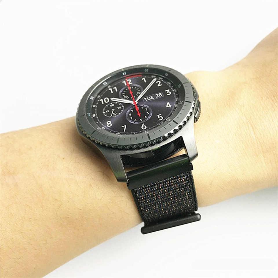 Dişli s3 Frontier askısı huawei saat gt 2 kayış Samsung Galaxy saat aktif 2 46mm 42mm amazfit bip kayışı 20/22mm saat kayışı
