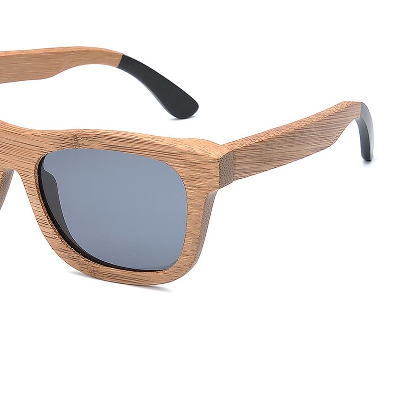 BG007a-Czc-Bamboo polarized Sunglasses for  women and mens retor style  (7)