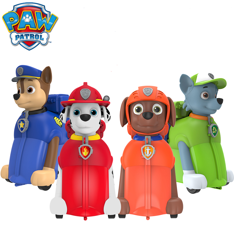New Arrival Genuine paw patrol kids backpack multi-function bag riding box luggage bag can sit can pull kids birthday toy gift