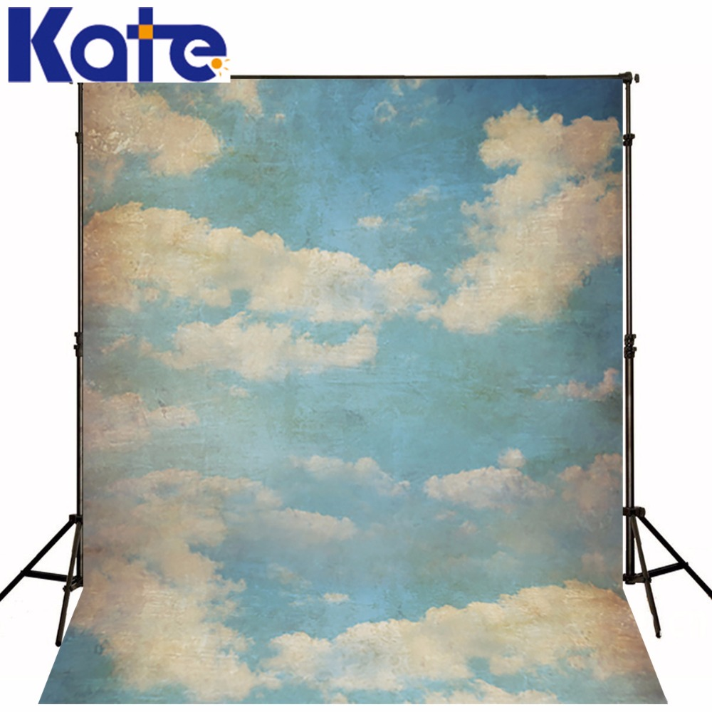 Kate 5*7ft Photography Backdrop Candy Children Blue Sky 3D Cloud Backgrounds For photo studio Baby backdrops photocall shoot kate dark blue starry sky baby photography backdrops with cloud studio washable seamless photography background material