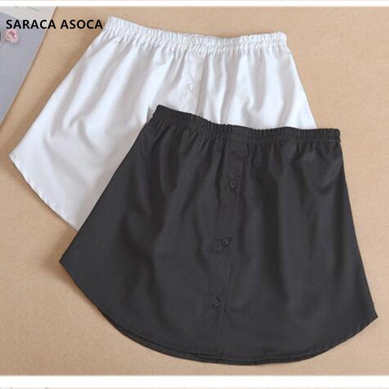 Wholesale Retail Fashion White Fake Skirt Hem Women All Match Spring Winter Plaid Detachable Skirt Hem Lady