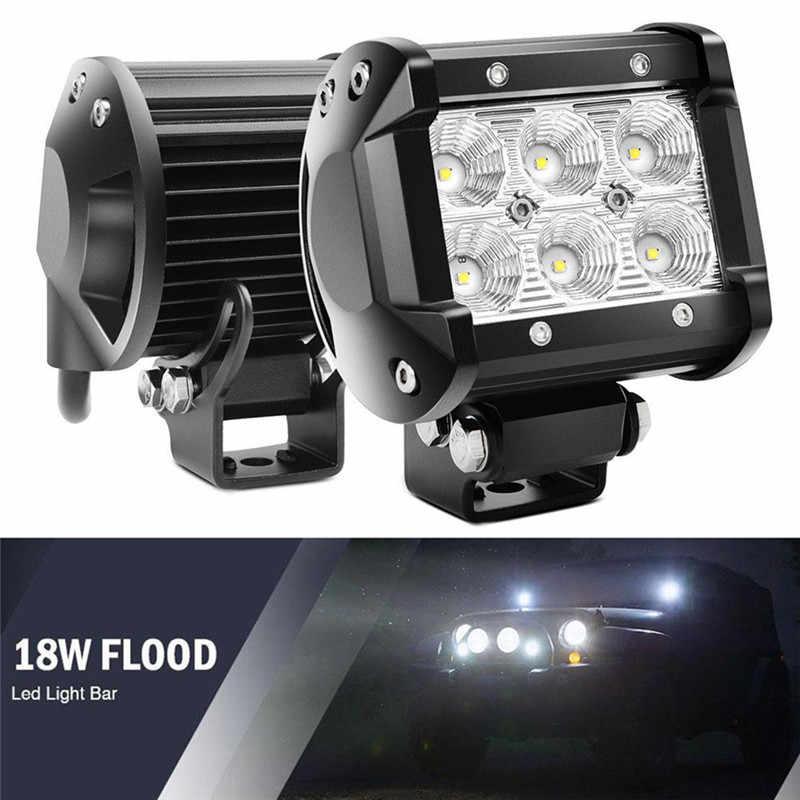 """Carro conduziu a barra de luz 18 w luz trabalho lâmpada cree chip led 4 """"motocicleta trator barco fora da estrada 4x4 4wd caminhão suv atv 12 v"""
