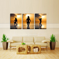 Modern Quardro Black White Sexy Charming Woman Beauty Canvas Painting Toilet Pub Bar Home Decoration Art Poster Wall Pictures
