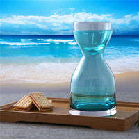 GuangYi Glass Water Bottle Hourglass Shape Colorful Glass Unique Teapot Elegant Water Kettle Brief Drinking Bottle