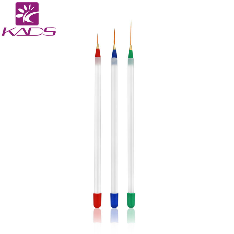 KADS 3pcs/set Acrylic Nail Art Builder Brush Drawing Pen Nail Brush Kit Painting Tools Design Nail Art ...
