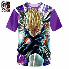 OGKB best selling men's anime T-shirt funny printing Dragon Ball Z 3D boy favorite round neck short-sleeved yellow T-shirt(China)