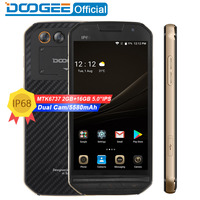 DOOGEE S30 IP68 Waterproof 5580mAh Side fingerprint Dual camera 5V/2A 5.0