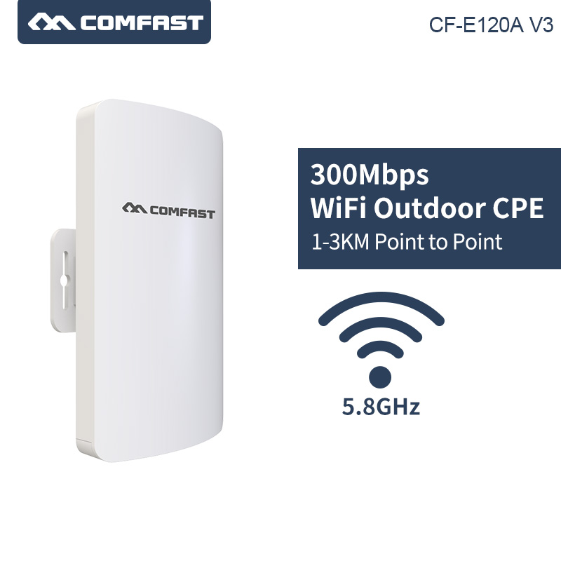 1 2KM Wireless Outdoor CPE WIFI Router 300Mbps Access Point AP Router 5.8Ghz WIFI Bridge WIFI Repeater WIFI Extender Support WDS