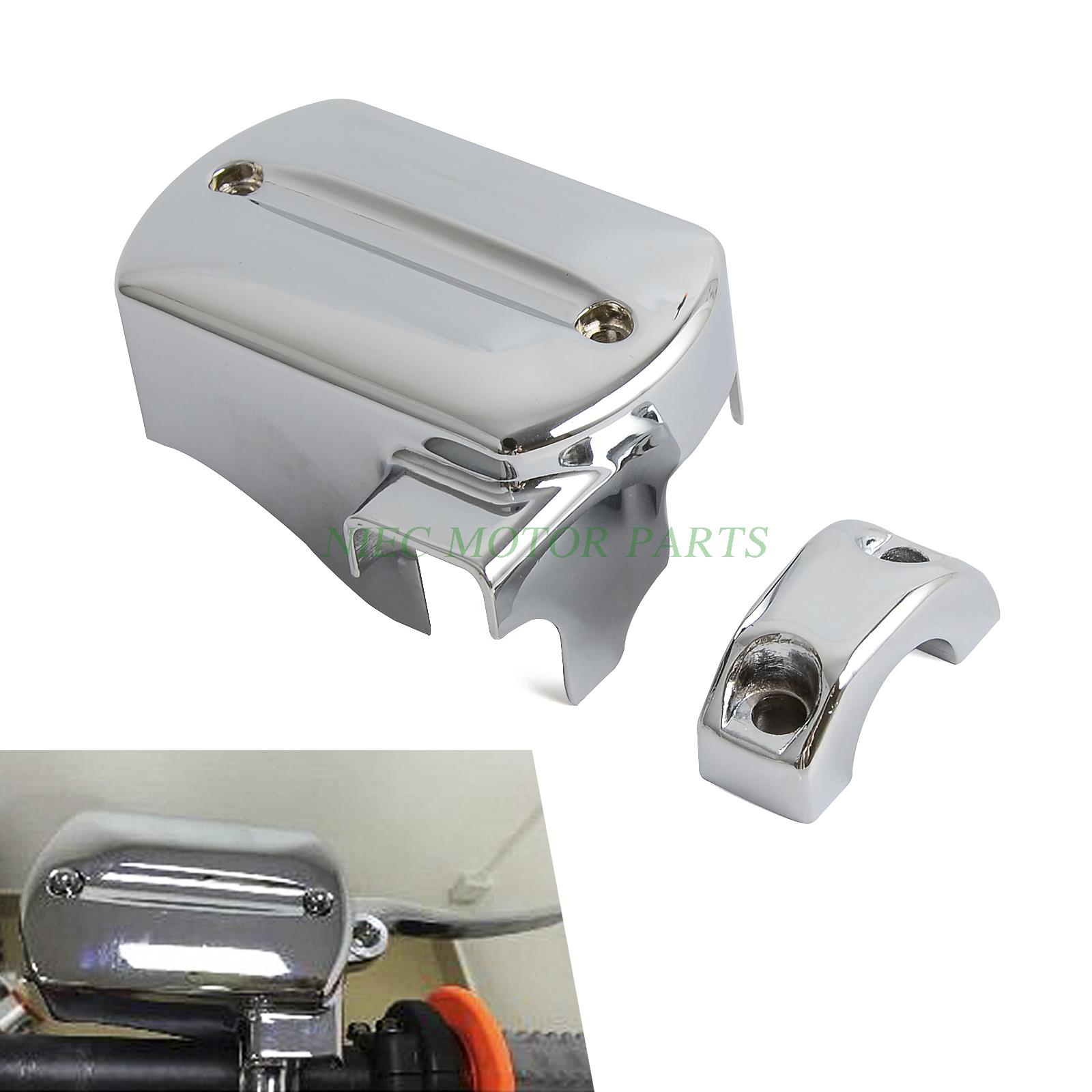 Motorcycle Chrome Brake Master Cylinder Cover For Yamaha V-Star 650/1100 1998-2007 стоимость