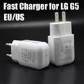 2016 nuevo 100% Nuevo Original de LA UE/EE.UU. Plug Adaptador de VIAJE rápido de carga del cargador de pared adaptador 1.8a para lg g5 teléfono h860 H868