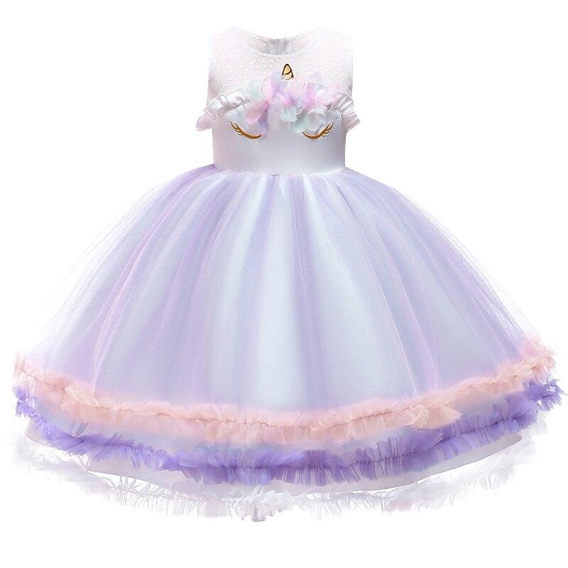 HTB1I6g7acvrK1Rjy0Feq6ATmVXay Unicorn Dresses For Elsa Costume Carnival Christmas Kids Dresses For Girls Birthday Princess Dress Children Party Dress fantasia
