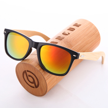 BARCUR Wood Sunglasses PC Frame Handmade Bamboo Sunglasses Men Wooden Sun glasses for Women Porized Oculos de sol masculino