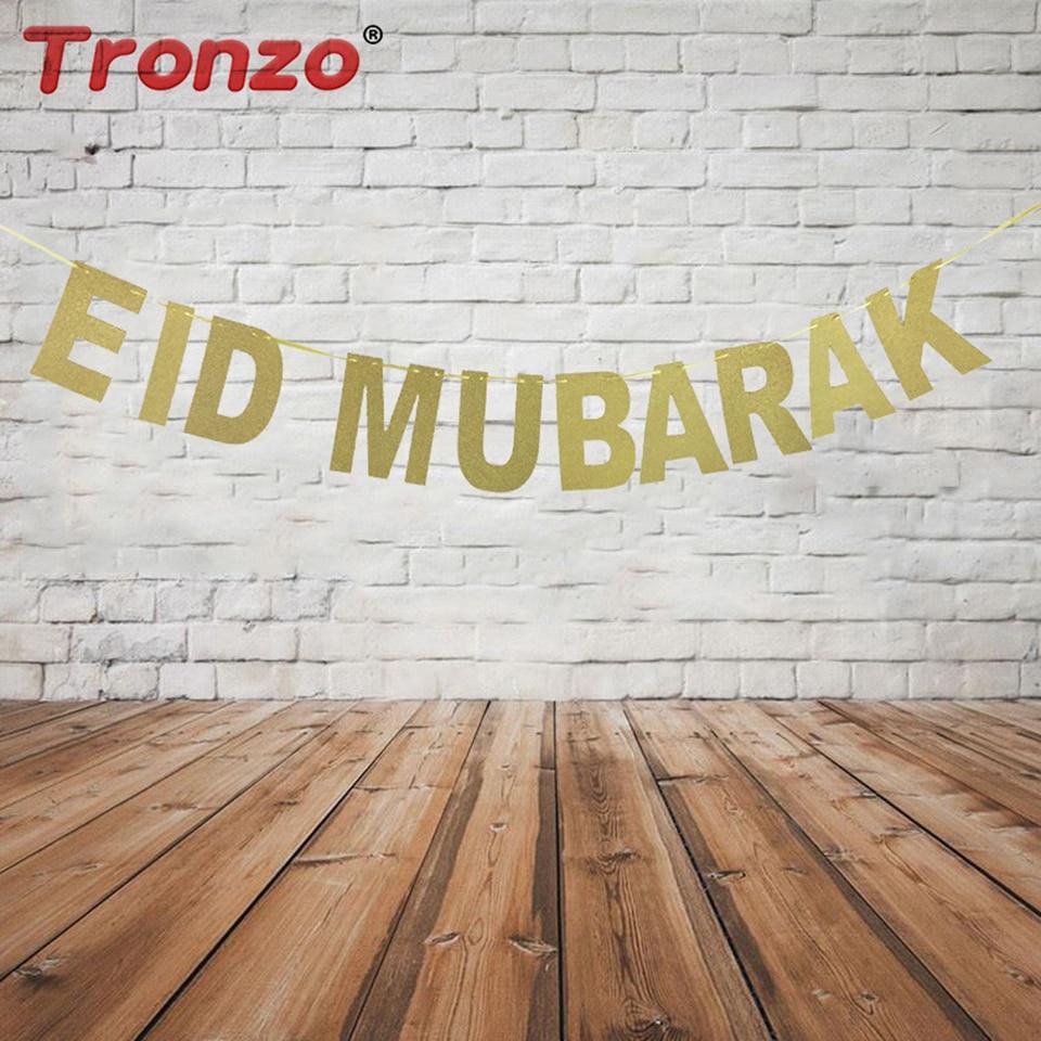 Tronzo EID MUBARAK transparenta Ramadan odlikovanje bleščice zlato - Prazniki in zabave