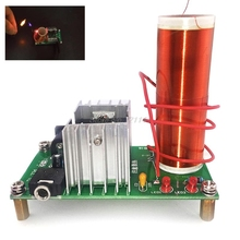 Electronic Tesla Coil Module DIY Kit Plasma Speaker Mini Music Loudspeaker Board