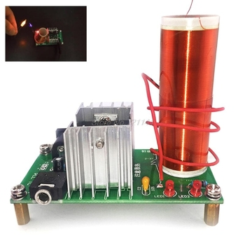 Módulo electrónico de bobina Tesla Kit DIY altavoz de Plasma Mini Placa de altavoz de música Dropship