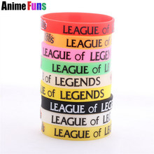 7 kleur Game League Of Legends Logo Silicone Armbanden & Bangle LOL Polsband voor vrouwen man fans Charm Cosplay Sieraden drop-schip(China)