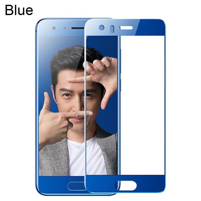 2 упаковки, huawei honor 9, закаленное стекло для huawei honor 9, защитная пленка, полное покрытие, honor 9, чехол huawe honor 9 glas STF-L09 - Цвет: Blue