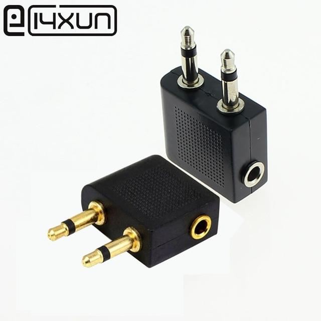 1 Uds avión dorado/niquelado avión 3,5mm avión auricular de líneas aéreas Mono convertidor de Audio Jack enchufe divisor adaptador