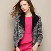 Fashion Brand Spring Autumn New Plaid Tweed Small Fragrant Woolen Coat Female Aristocratic Temperament Small Coat