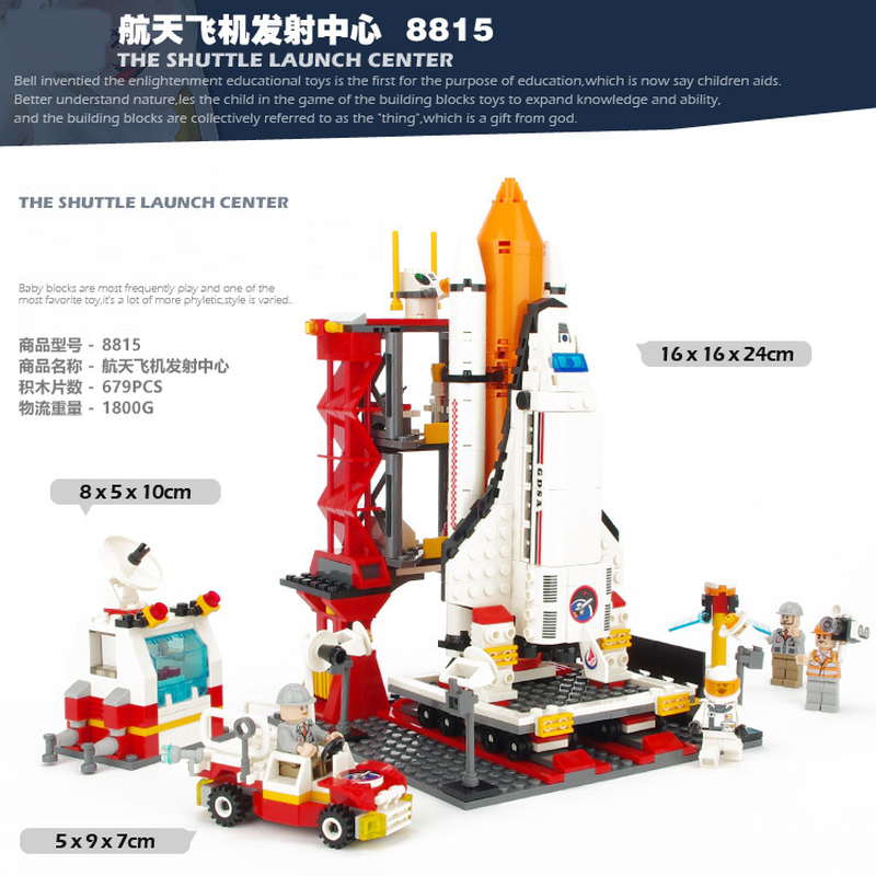 Spaceport Space Space Shuttle Launch Center Bricks The Moon Model Building Block Educational Toys For Children LegoINGS Military