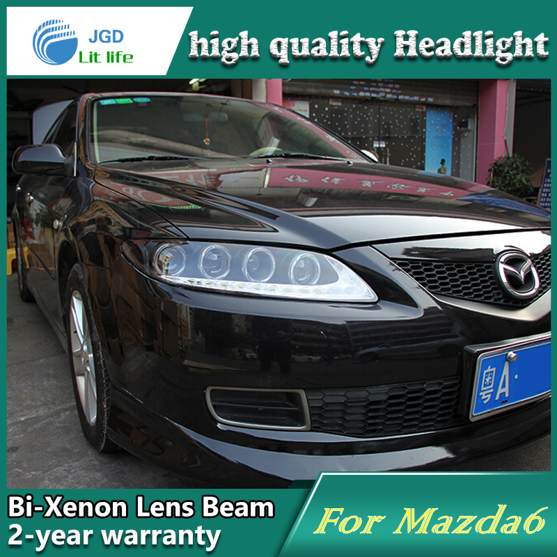Car Styling Head Lamp case for Mazda 6 Headlights Mazda6 LED Headlight DRL Lens Double Beam Bi-Xenon HID car Accessories car styling head lamp case for skoda superb 2009 2013 headlights led headlight drl lens double beam bi xenon hid accessories