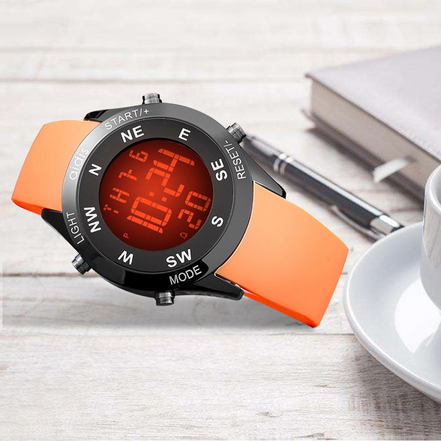 Kids Aidis Watch LED Digital Wristwatches Horloge Kinderen Digitaal Silicone Mountaineering Children Sport Relogio Masculino