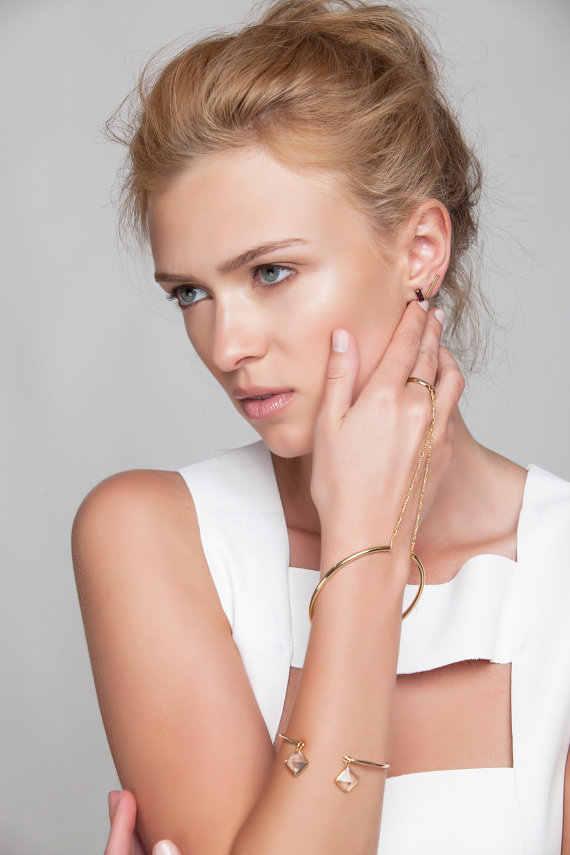 open cuff bracelets for women pulseira feminina bileklik silver gold color chakra bracelet strass charms tom hope armbanden