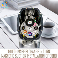 Long DistanceSilver 80W Multi image LED Logo Projector Light Powerful 10000lm Wall LED Gobo Image Projector Light Indoor Outdoor