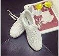 Primavera Verão coringa sapato branco senhora vento lazer estudante de lona com sapatos baixos sapatos único