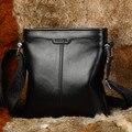 Роскошные Известная Марка Натуральная кожа мужчины сумка Высокое качество Мода плеча crossbody сумка Повседневная Мягкая кожа мужчины сумка почтальона сумочки