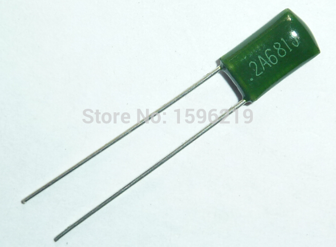 10pcs Mylar Film Capacitor 100V 2A681J 680pF 0.68nF 2A681 5% Polyester Film Capacitor