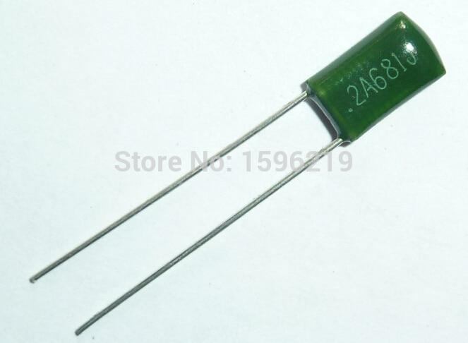 10pcs Mylar Film Capacitor 100V 2A681J 680pF 0.68nF 2A681 5% Polyester Film Capacitor