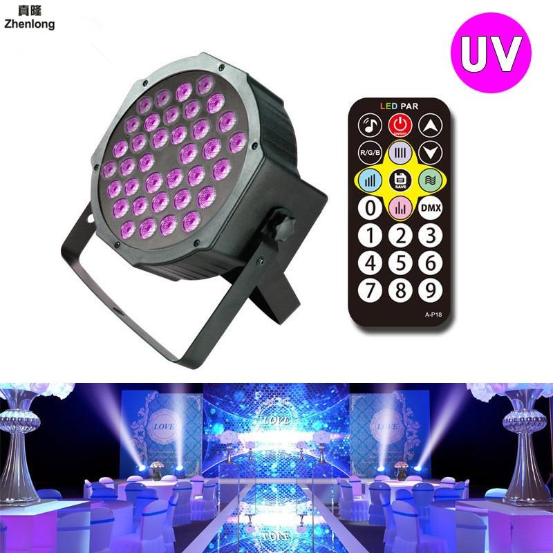 36W UV LED Stage Light Sound Active 36 LEDs Auto DMX Ultraviolet Strobe Par Black Lights For Disco light DJ Projector Party