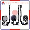 10 unids/lote alta calidad para 5c iphone 5 5g 5S asamblea sensor función botón inicio flex cable con touch id