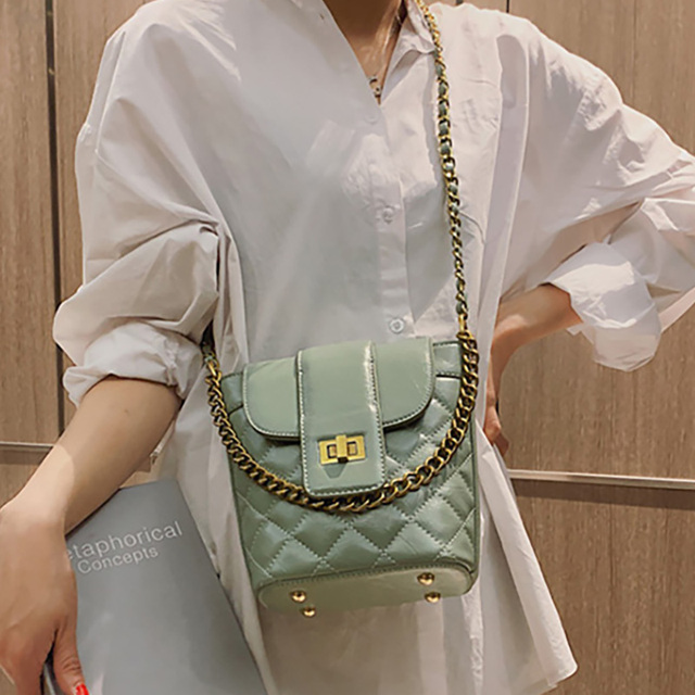 ETAILL Vintage Black Quilted Crossbody Bags Pink Plaid Bucket Bags Luxury Brand Designer Cute Lady's Out Street Shoulder Bags