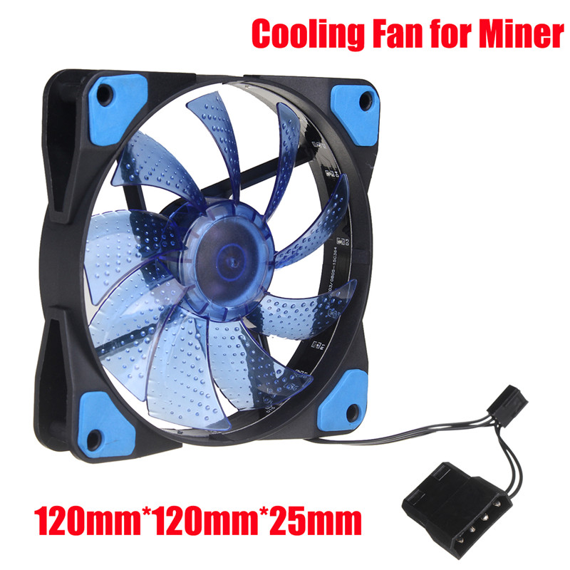 LED Light CPU Cooling Fan 4 PIN PC Computer Cooler Case Graphics Card GPU High Air