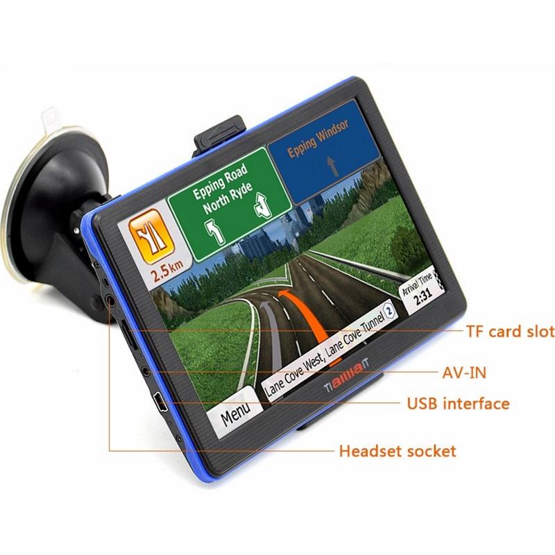 Inch Car Gps Navigation Capacitive Screen Fm Built In Gbm Wince   Map For Europeusacanada Truck Vehicle Gps Navigator