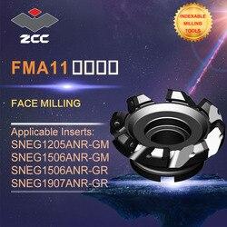 ZCC. CT oryginalne frezy czołowe FMA11 wysokowydajne narzędzia do tokarki CNC frezowanie indeksowane narzędzia narzędzia do frezowania twarzy