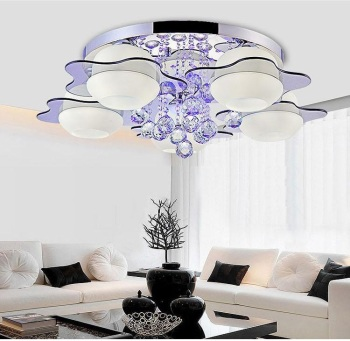 Crystal LED Ceiling Lights Living Room Bedroom Dining Room Study Lights Commercial Deco ceiling lamps Lighting fixture