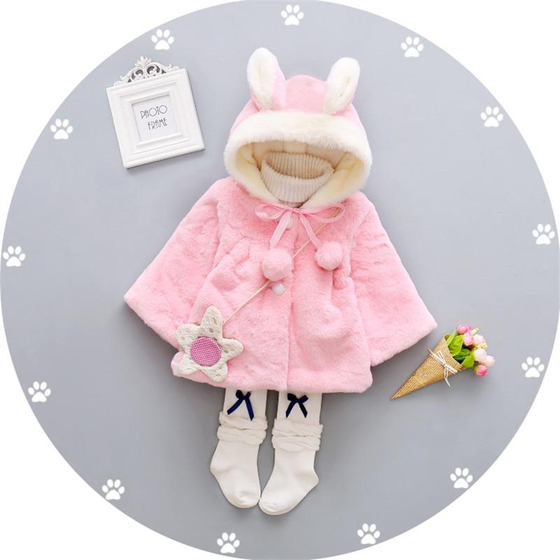 100% Waar Bibicola Herfst Winter Baby Meisjes Bovenkleding Meisjes Faux Fur Fleece Kapmantel Cape Zuigeling Dikke Warme Prinses Jas Jas Kleuren Zijn Opvallend