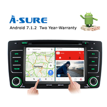 A-Sure Android 7.1 4G In Car 2 Din GPS Stereo Bluetooth CD DVD Player Mirror link RDS Navigation For SKODA OCTAVIA (ASSOC)