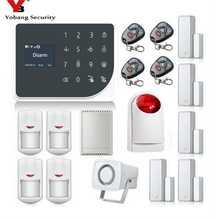 YoBang Security Wireless WIFI GSM GPRS Home Security Alarm System English Spanish Netherland Voice Application PIR