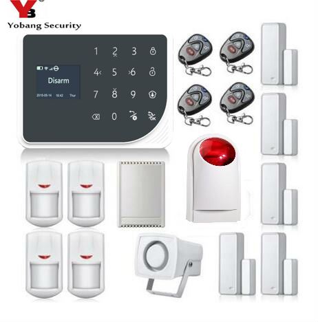 YoBang Security Wireless WIFI GSM GPRS Home Security font b Alarm b font System English Spanish