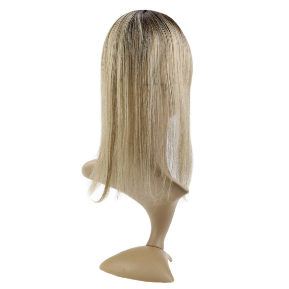 Full Shine 20-40g Color #3/8/22 Remy Crown Hair Topper 12*6cm Crown For Women Mono Toppers With Clop Toupee For Thinning Hair