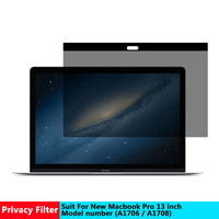 Vmonv Magnetic Privacy filter Screens Protective film for New Macbook pro 13 inch For Apple laptop model number A 1706/ A1708