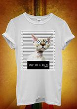 Cat Kitten Meow Mug Shot Men Women Unisex T Shirt Vest 1056 New Shirts Funny Tops Tee