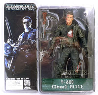 Free Shipping NECA The Terminator 2 Action Figure T 800 T 800 Steel Mill PVC Figure