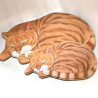New High quality handmade cat shape washable carpet short hair cat mat cartoon cat art rug Kitchen Floor Mats Welcome Doormat