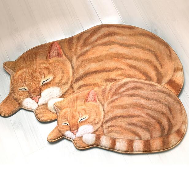 Nueva alta calidad hecha a mano forma del gato alfombra lavable Pelo ...