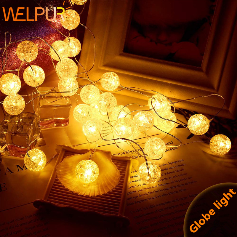 LED Fairy String Lights Silver Line Warm White AA Battery/USB Power Supply For Wedding Holiday Christmas Decoration Globe Lights